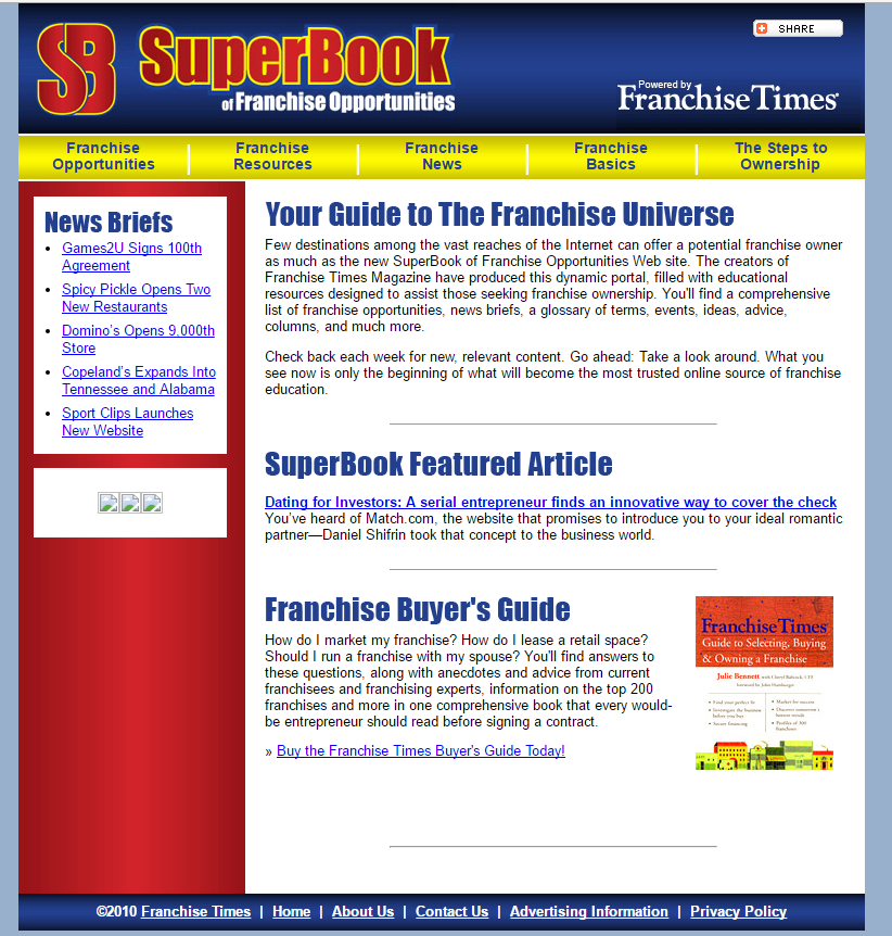 Franchise Times SB - 2010